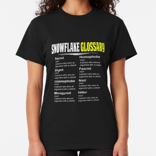 Funny Conservative Design Snowflake Glossary Classic T-Shirt