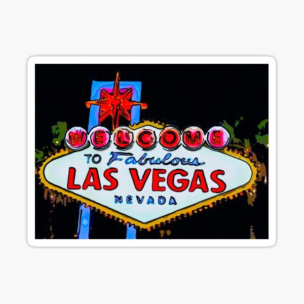 Las Vegas Welcome Sign Graphic Art Sticker
