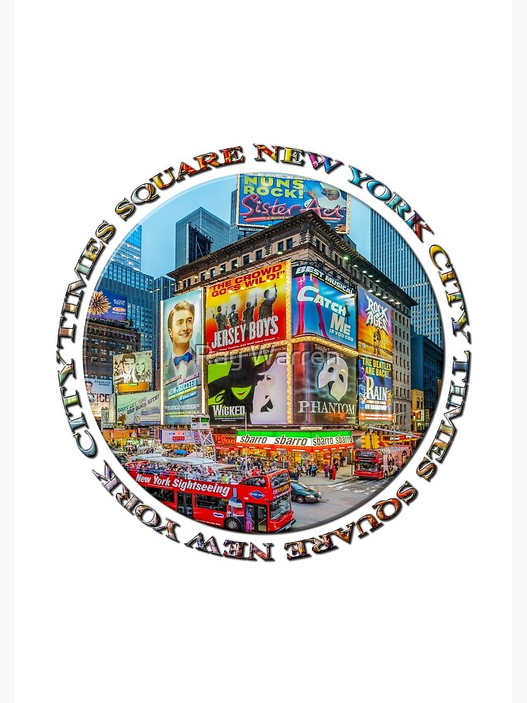Times Square III (round badge on white) by RayW