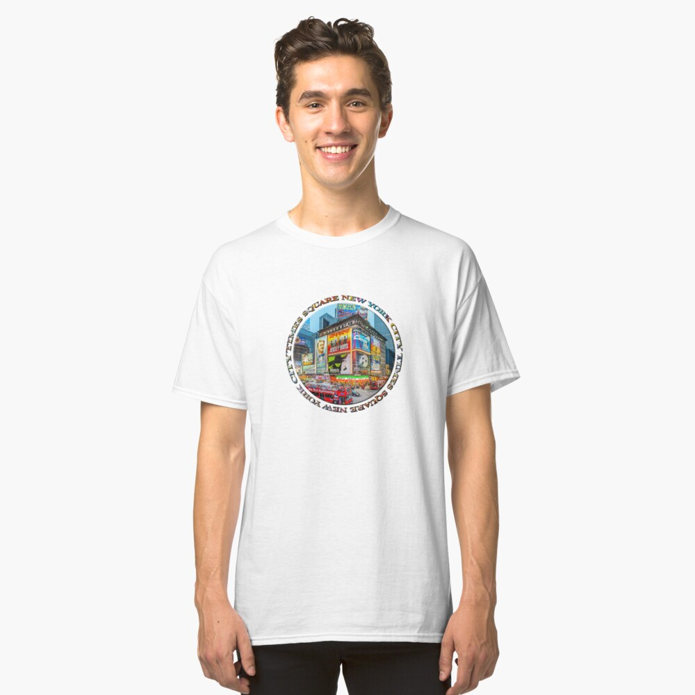 Times Square III (round badge on white) Classic T-Shirt