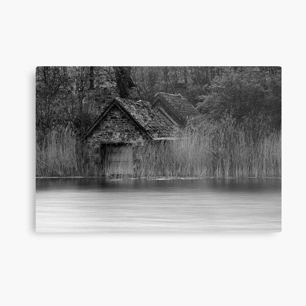 Old Boat House Metal Print