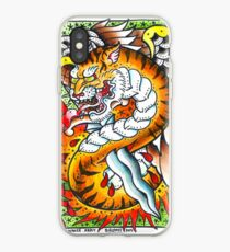 Tiger snake - Tattoo Art Print iPhone Case