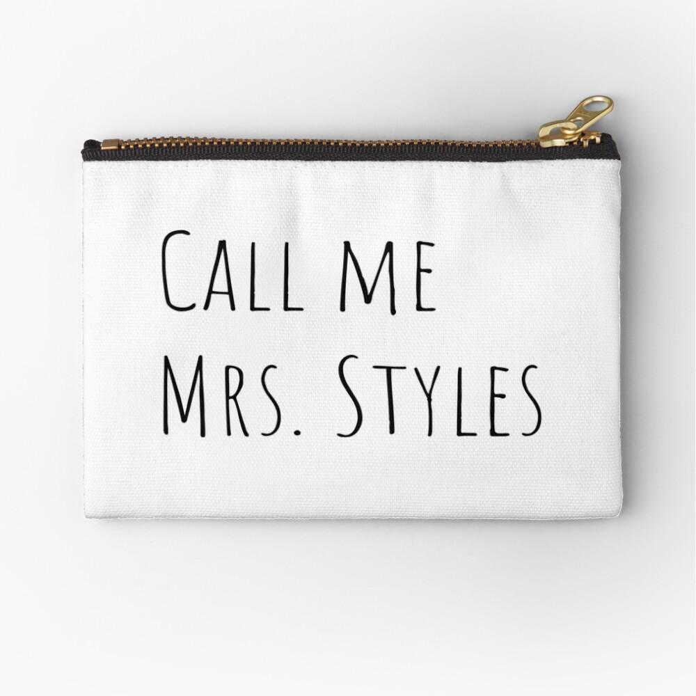 Call me Mrs. Styles Zipper Pouch