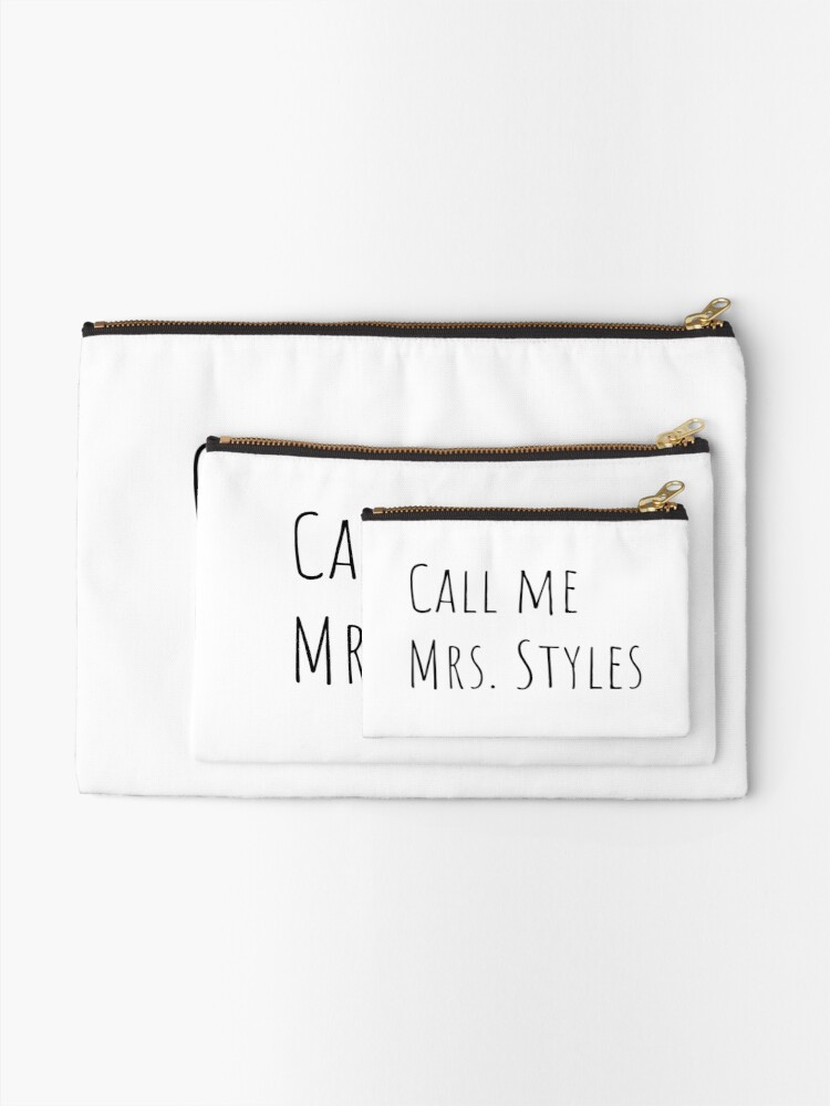 Alternate view of Call me Mrs. Styles Zipper Pouch