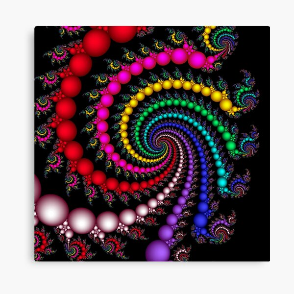 Psychedelic Spirals Canvas Print