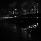 Niagara falls by night by RKLazenby
