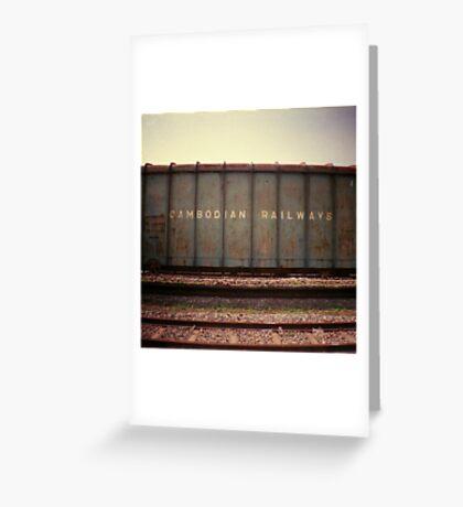 cambodian railways, phnom penh, cambodia Greeting Card