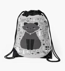 Kitten Fang Drawstring Bag