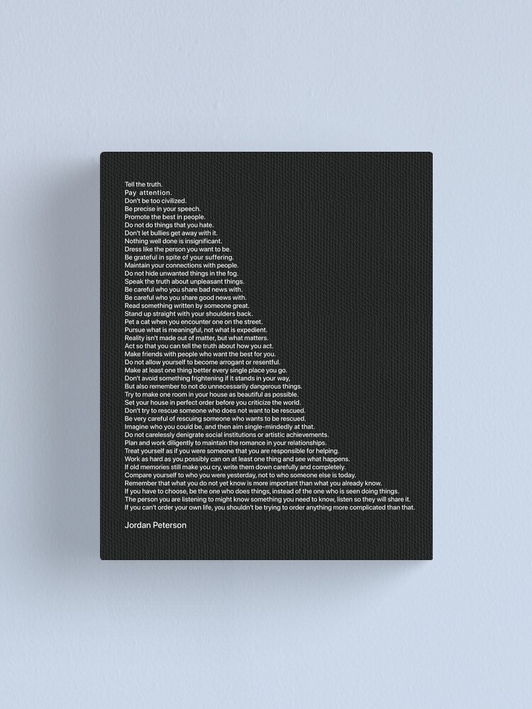 Alternate view of Best Quotes by Jordan Peterson Canvas Print