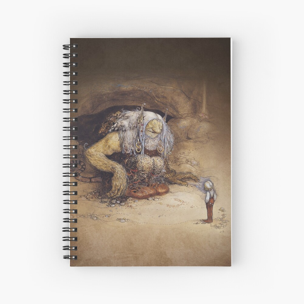 John Bauer 1912 The Boy Who Was Never Afraid Norwegian Trolls Art Nouveau Watercolor Illustrationsnorse Viking Norway Mythology Hd High Quality Hardcover Journal By Iresist Redbubble