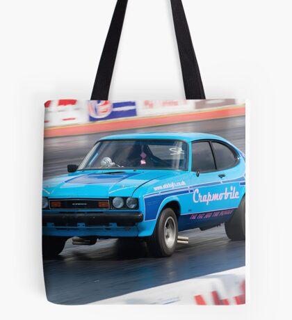 Ford Capri drag racer Tote Bag