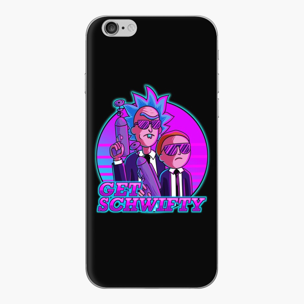rick and morty get schwifty iPhone Skin