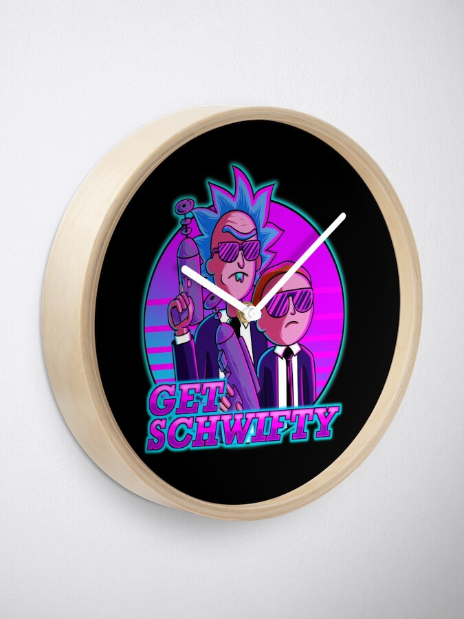 Alternate view of rick and morty get schwifty Clock