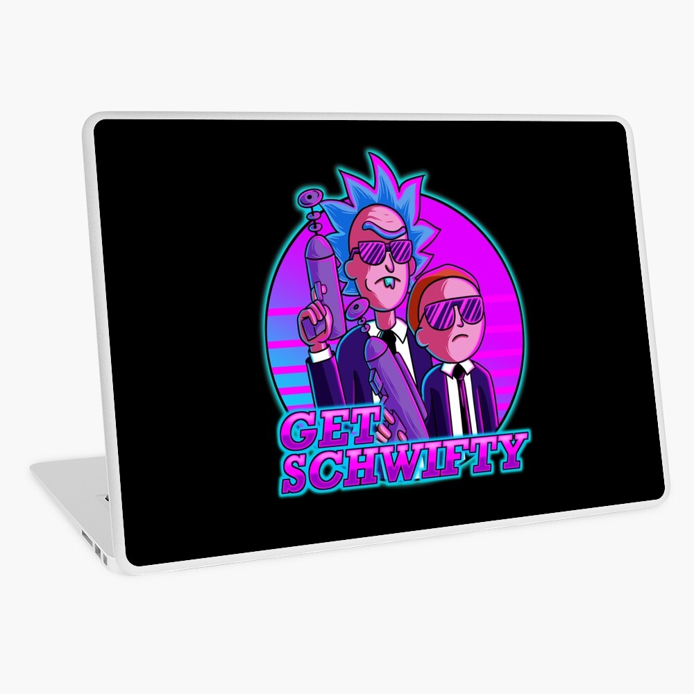rick and morty get schwifty Laptop Skin