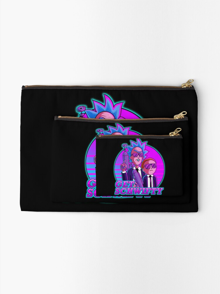 Alternate view of rick and morty get schwifty Zipper Pouch