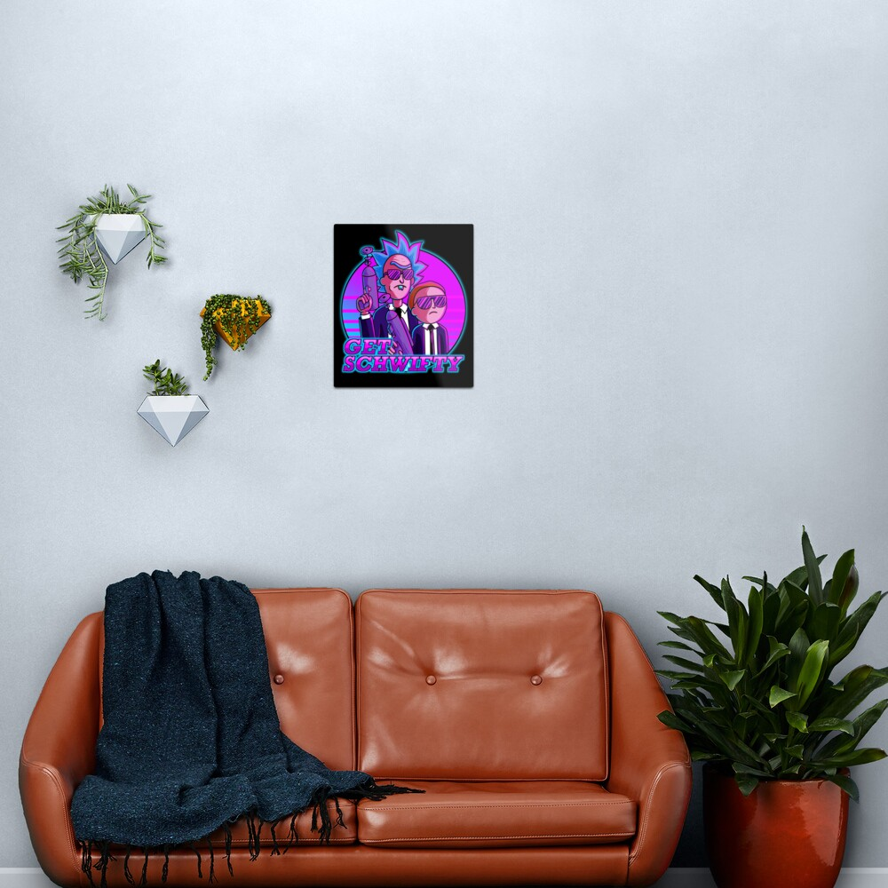 rick and morty get schwifty Metal Print