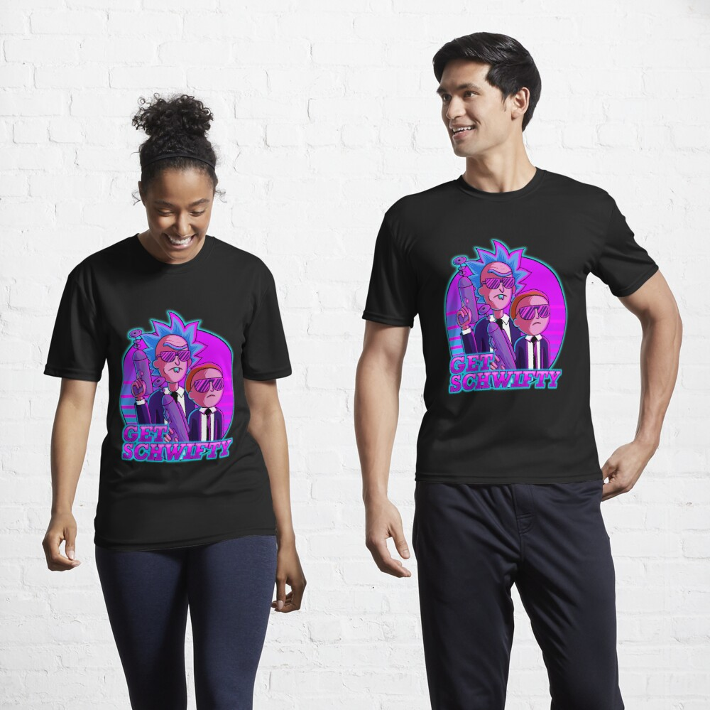 rick and morty get schwifty Active T-Shirt