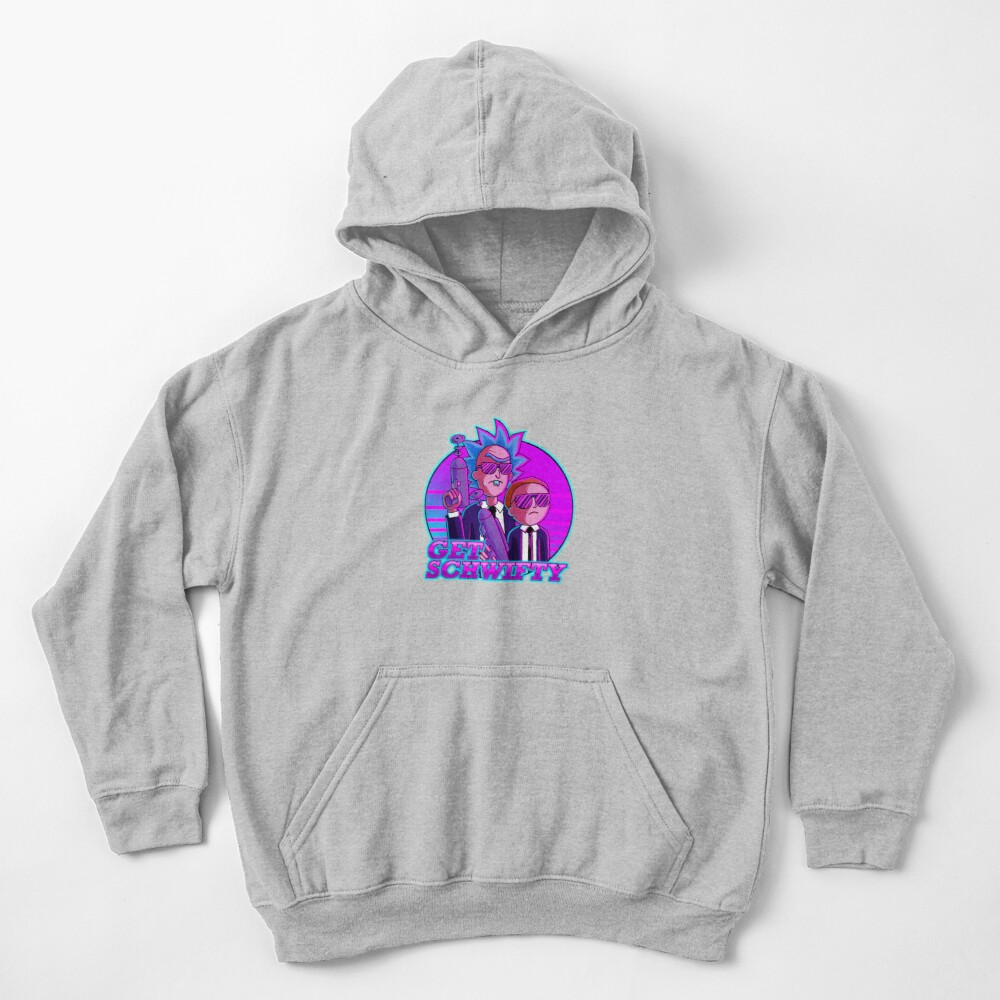 rick and morty get schwifty Kids Pullover Hoodie