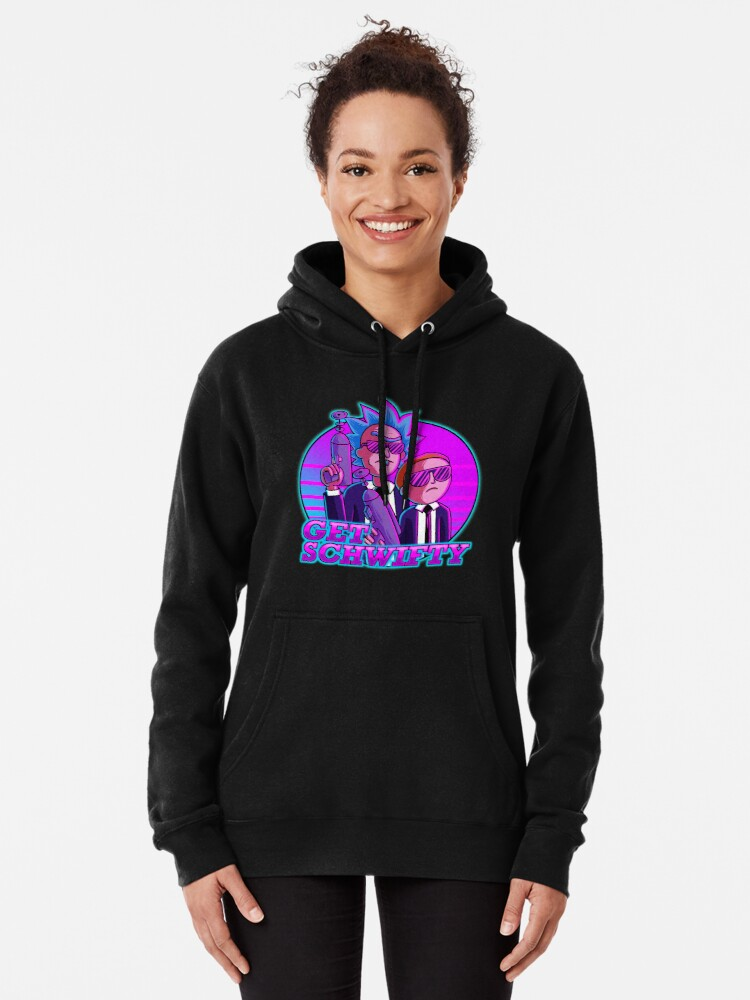 Alternate view of rick and morty get schwifty Pullover Hoodie