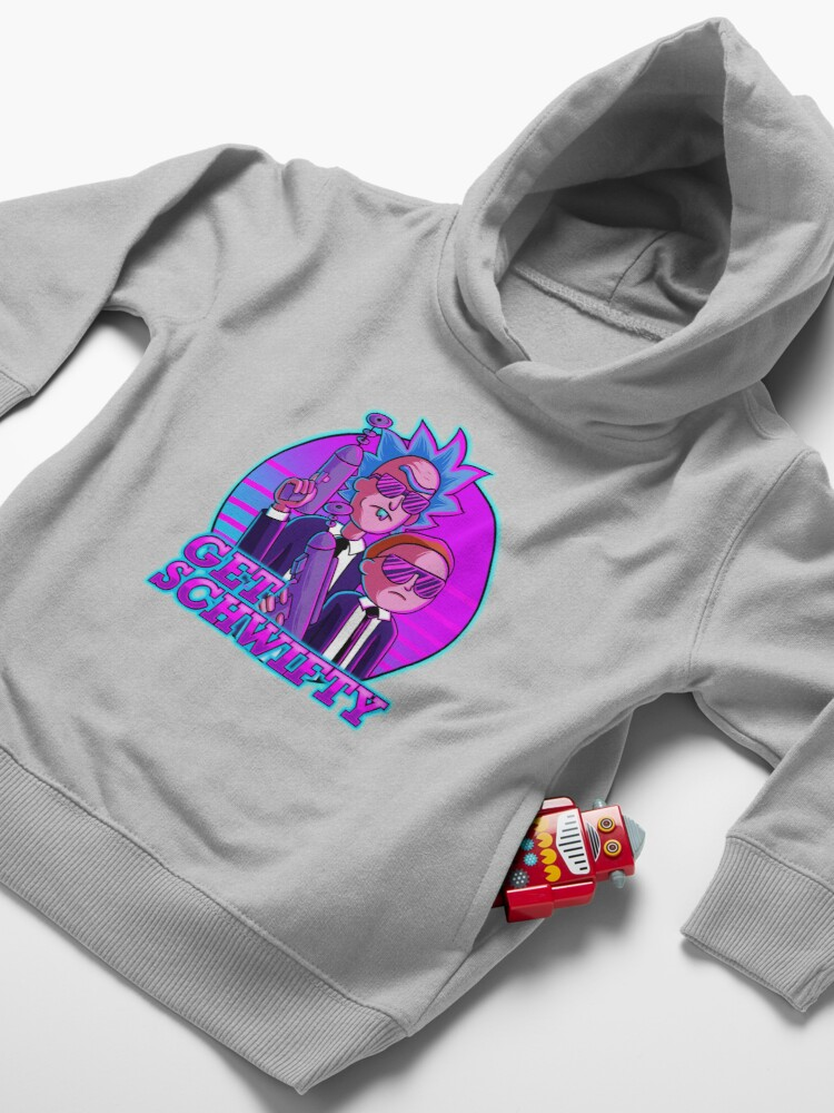Alternate view of rick and morty get schwifty Toddler Pullover Hoodie