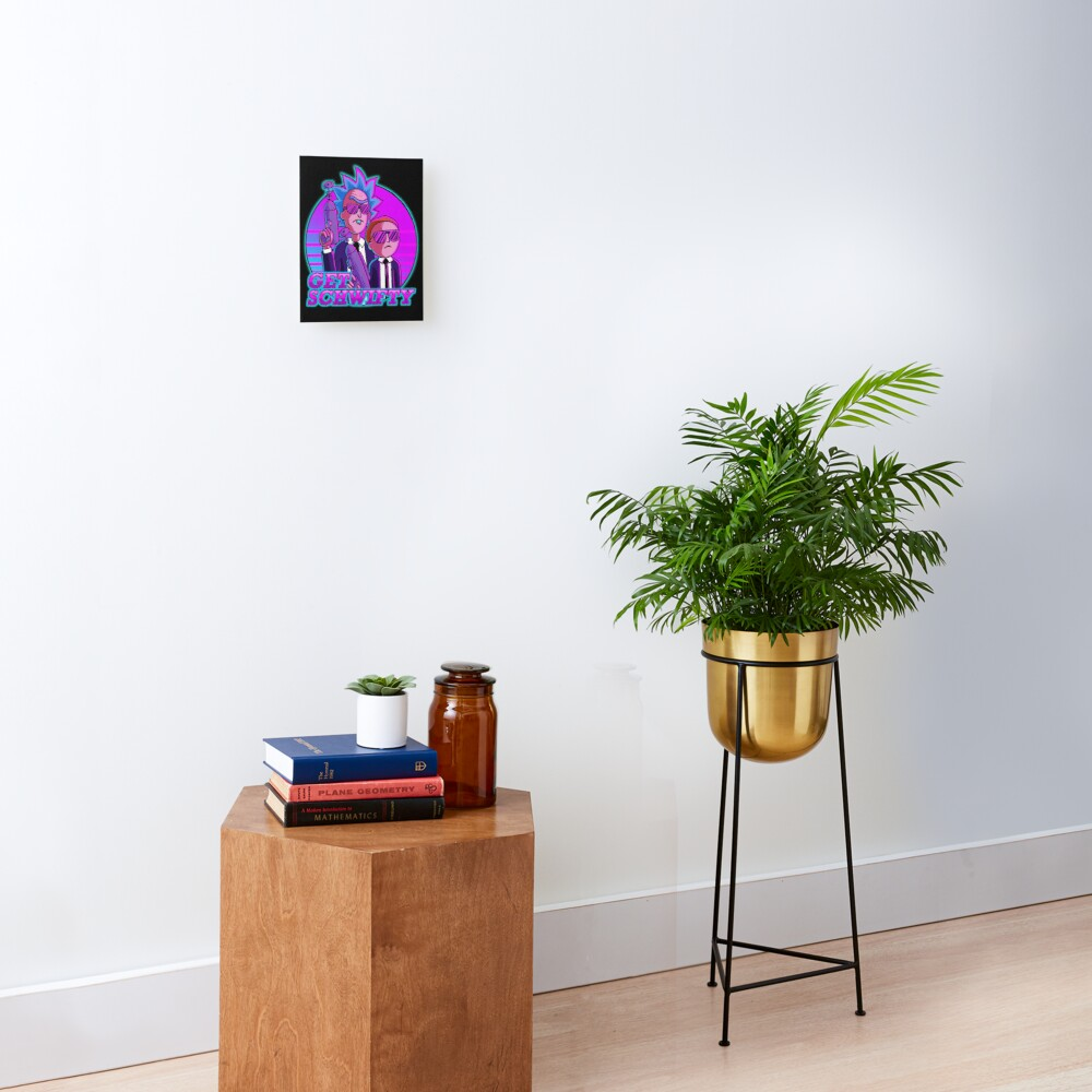 rick and morty get schwifty Mounted Print