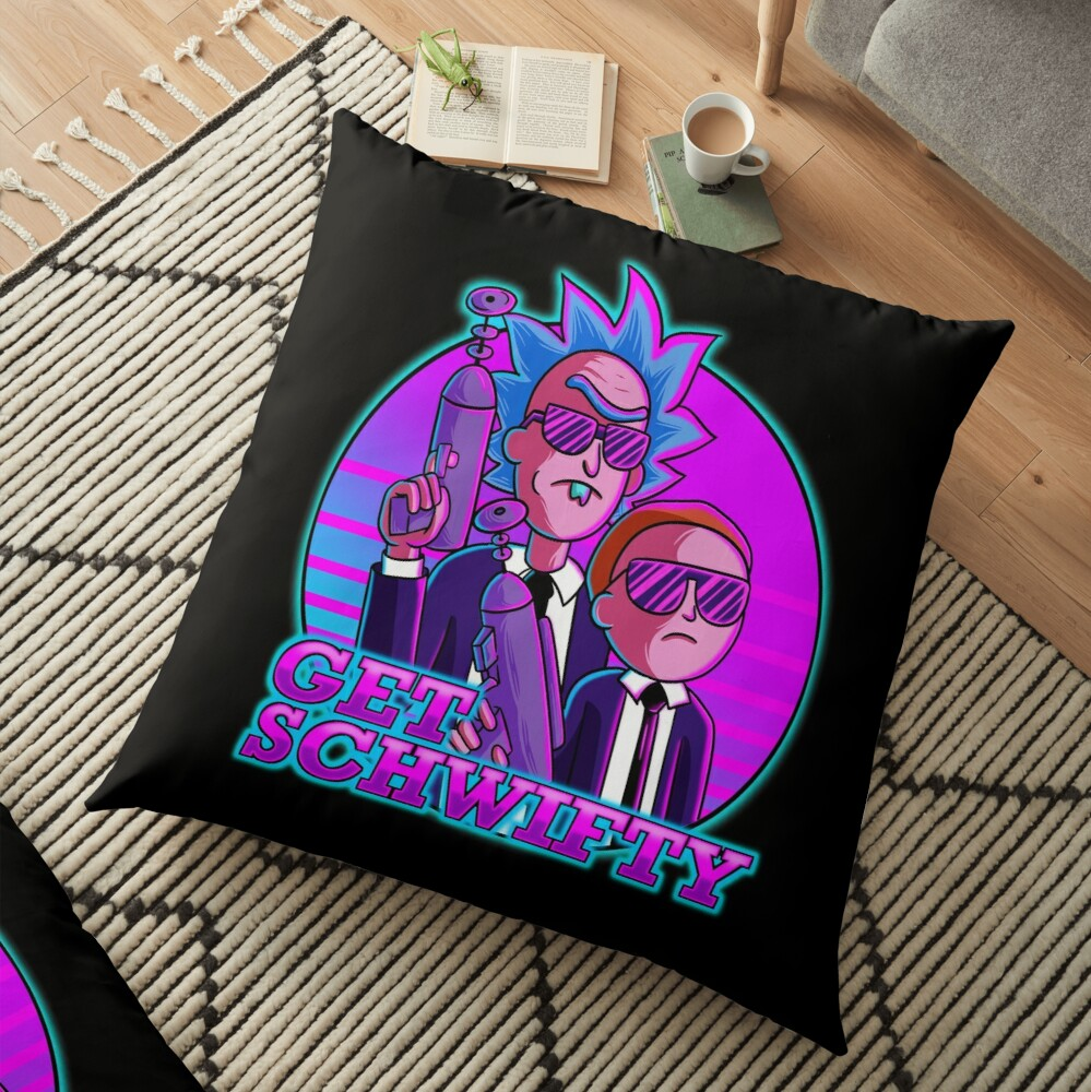 rick and morty get schwifty Floor Pillow