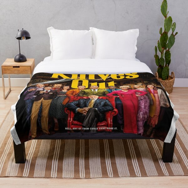 Knives Out Throw Blanket