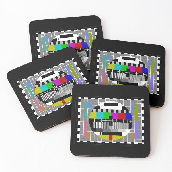 TV Test Pattern Socks Coasters (Set of 4)