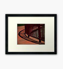 Curve Shadow Framed Print