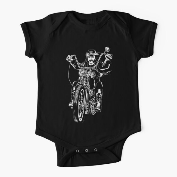Lemmy motorbike Short Sleeve Baby One-Piece
