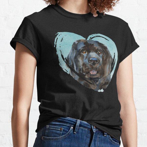 Watercolor Newfoundland Portrait Classic T-Shirt