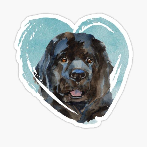 Watercolor Newfoundland Portrait Sticker