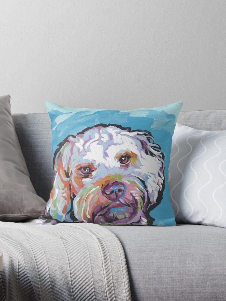 Quot Cockapoo Dog Bright Colorful Pop Dog Art Quot Throw Pillows