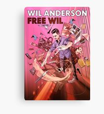 Wil Anderson - Free Wil (poster) Canvas Print