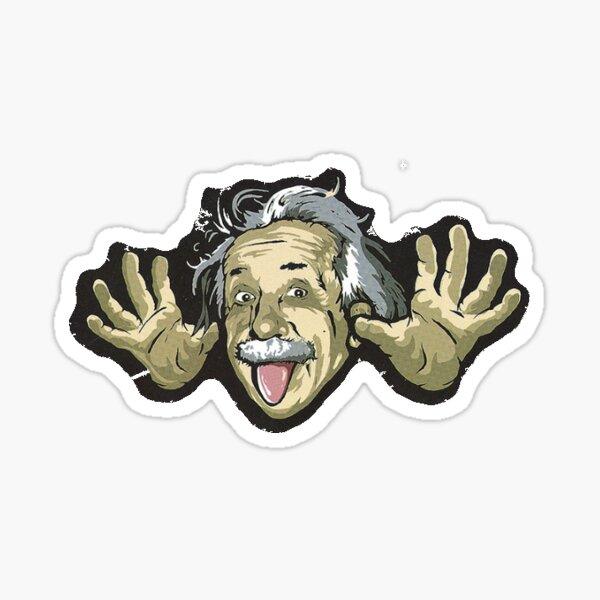 Albert Einstein pegatina Pegatina