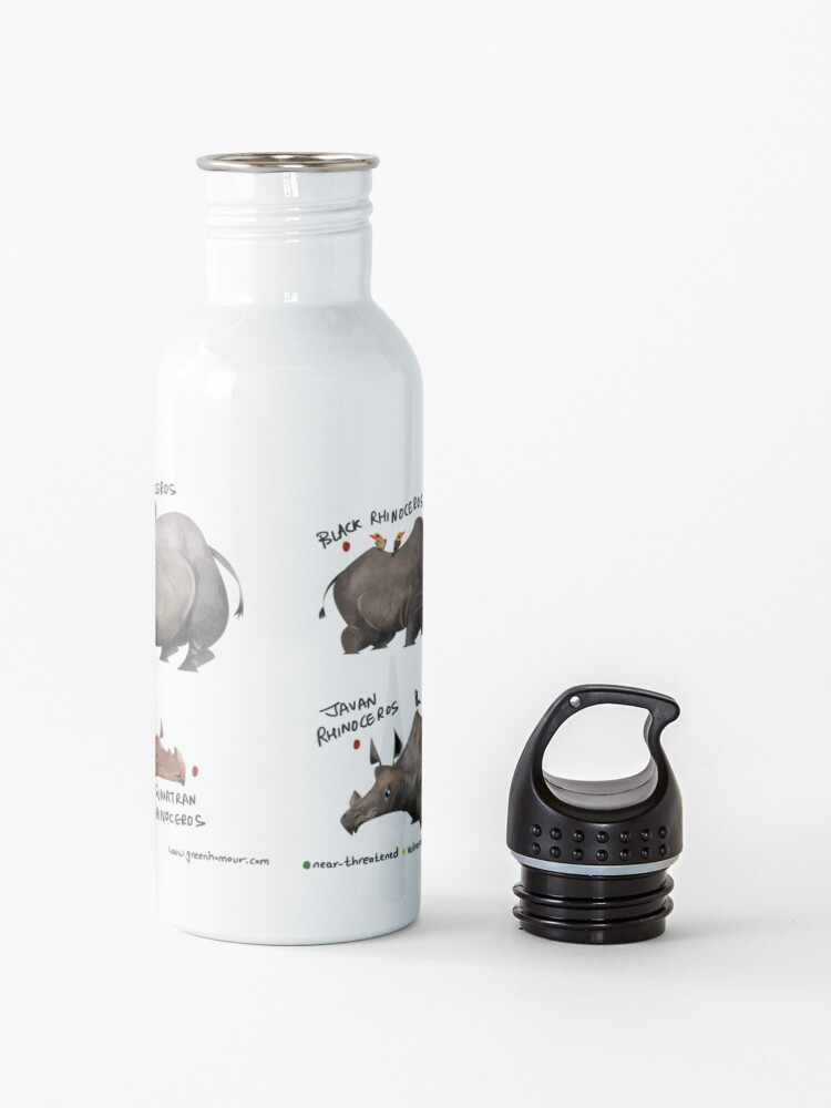 Alternate view of Rhinos of the World Water Bottle