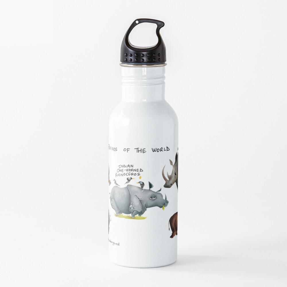 Rhinos of the World Water Bottle