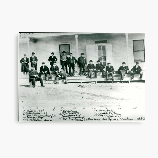 OLD WEST 1883 The Gathering Wyatt Earp Butch Cassidy NOVELTY  Metal Print