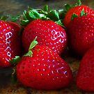 Strawberries by EMBlairArtwork