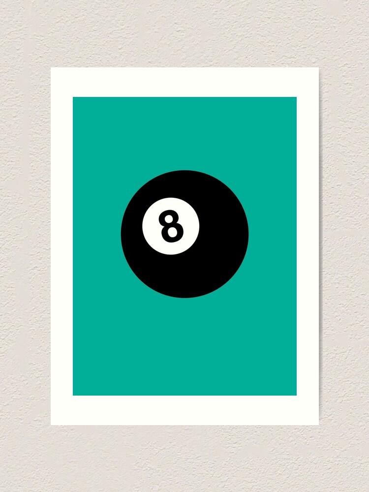 Alternate view of Billiard 8 Ball Art Print