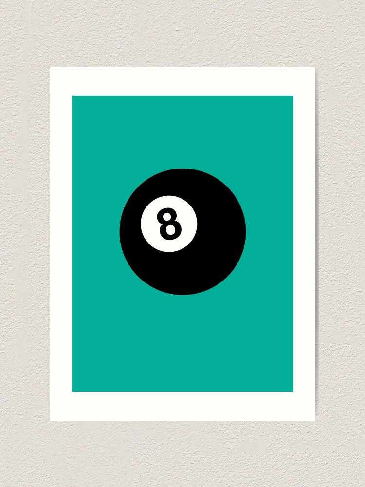 Alternate view of Billiard 8 Ball Art Print