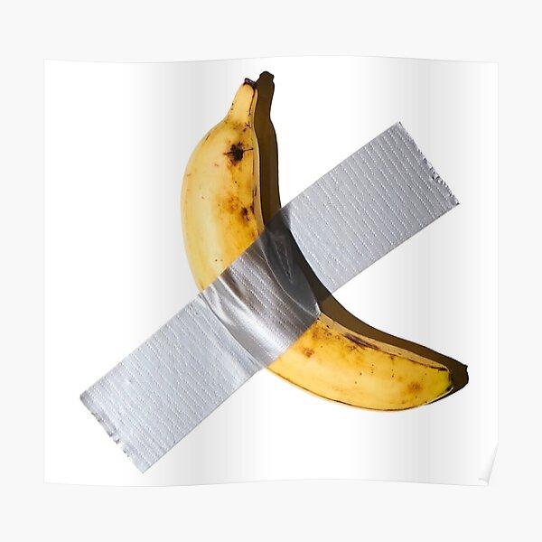 Banane abgeklebt Poster