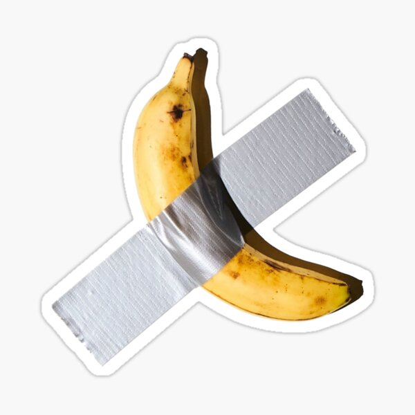 Banane scotché Sticker