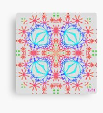 Neon Needlepoint Canvas Print