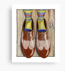 Daddy's Shoes Canvas Print