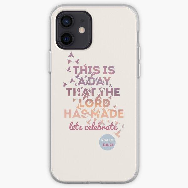 Bright Cream/ Purple/ Pink Bible Verse  iPhone Soft Case
