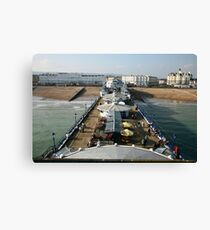 Sunny afternoon on Eastbourne Pier, East Sussex, UK Canvas Print