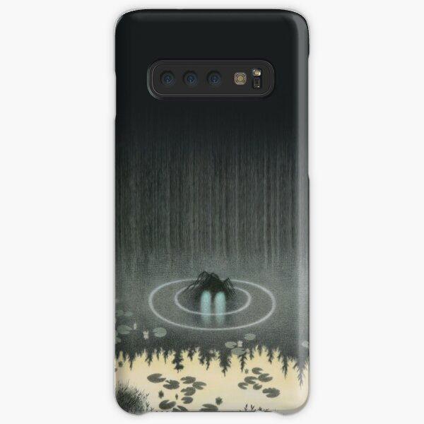 Theodor Severin Kittelsen 1904 Nøkken The Nix Water Spirit Troll Hidden in the Lake Norse Watercolor Viking Norway Mythology HD High Quality Samsung Galaxy Snap Case