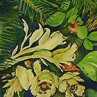 Indian Pipe under Black Spruce by Lynda Earley