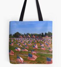 Memorial Day Flags Tote Bag